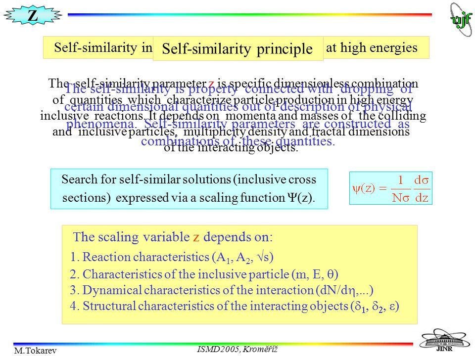 Z M.Tokarev ISMD2005, Kroměříž Z-scaling at RHIC   -meson production in pp collisions from PHENIX PHENIX Collaboration S.S.Adler et al., Phys.Rev.Lett.