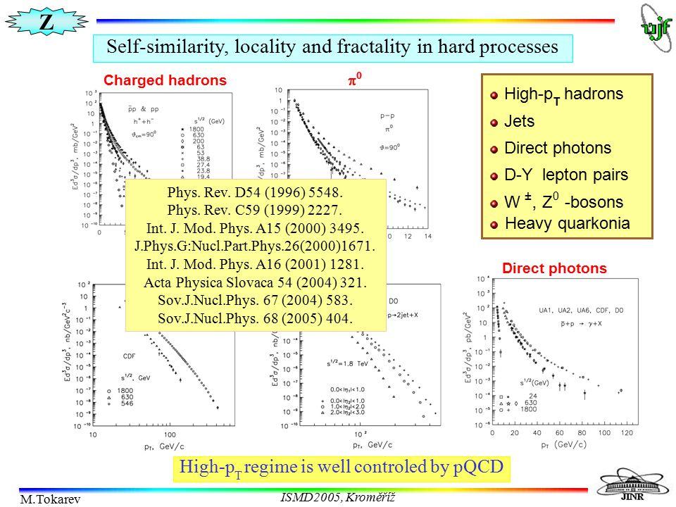 Z M.Tokarev ISMD2005, Kroměříž Z-scaling at RHIC K + & K S 0 - meson production in pp collisions at high-p T  Shape of Ψ(z) for K + & K S 0  F-dependence of  z   High-p T asymptotic of K S 0 Experimental data: J.W.