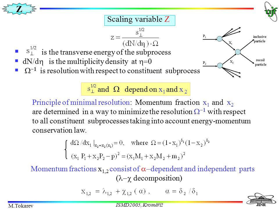 Z M.Tokarev ISMD2005, Kroměříž M.Tokarev T.Dedovich O.Rogachevsky J.Phys.G:Nucl.Part.