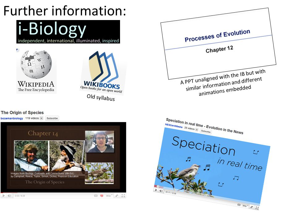 Further information: A PPT unaligned with the IB but with similar information and different animations embedded Old syllabus