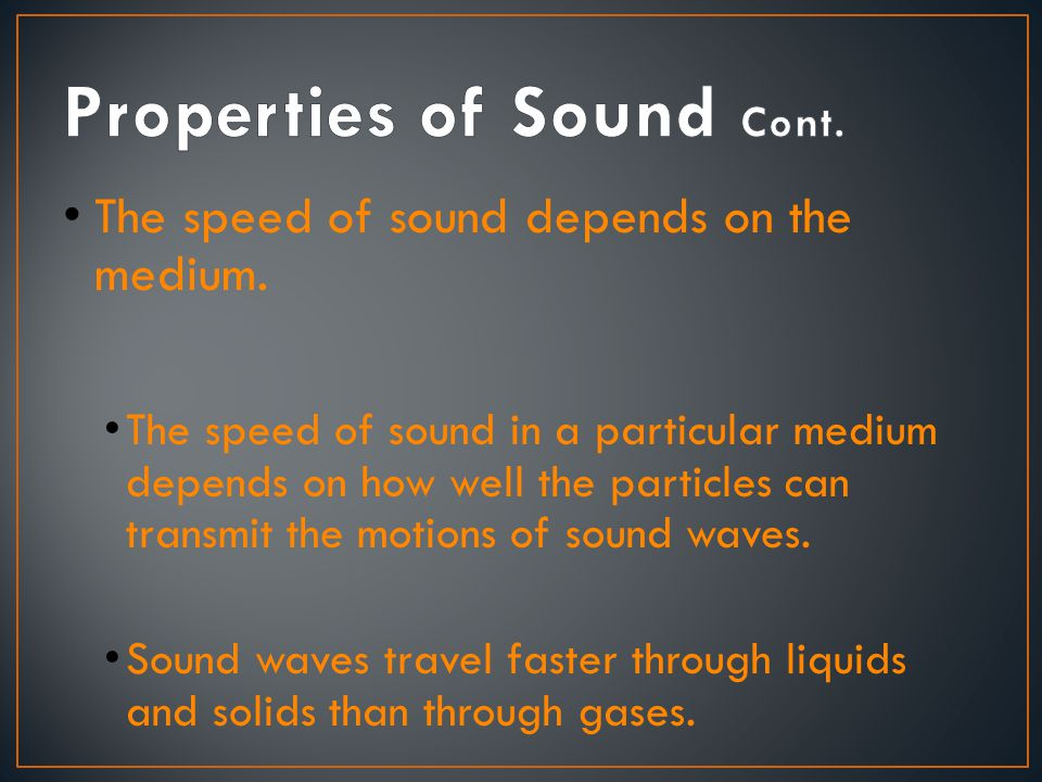 〉 What are the characteristics of sound waves.