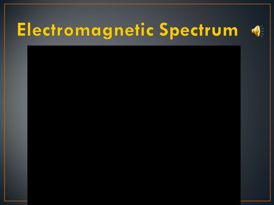 〉 What does the electromagnetic spectrum consist of.