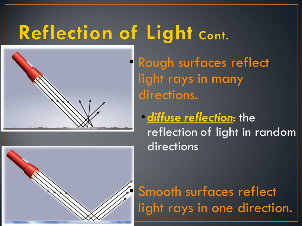 Light rays are used to describe reflection and refraction.