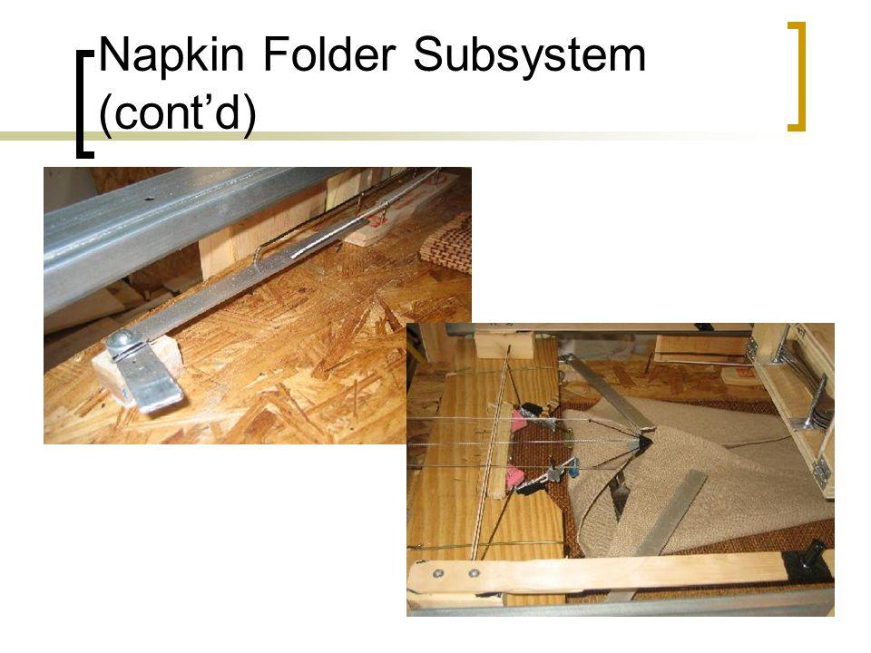 Napkin Folder Subsystem (cont'd)