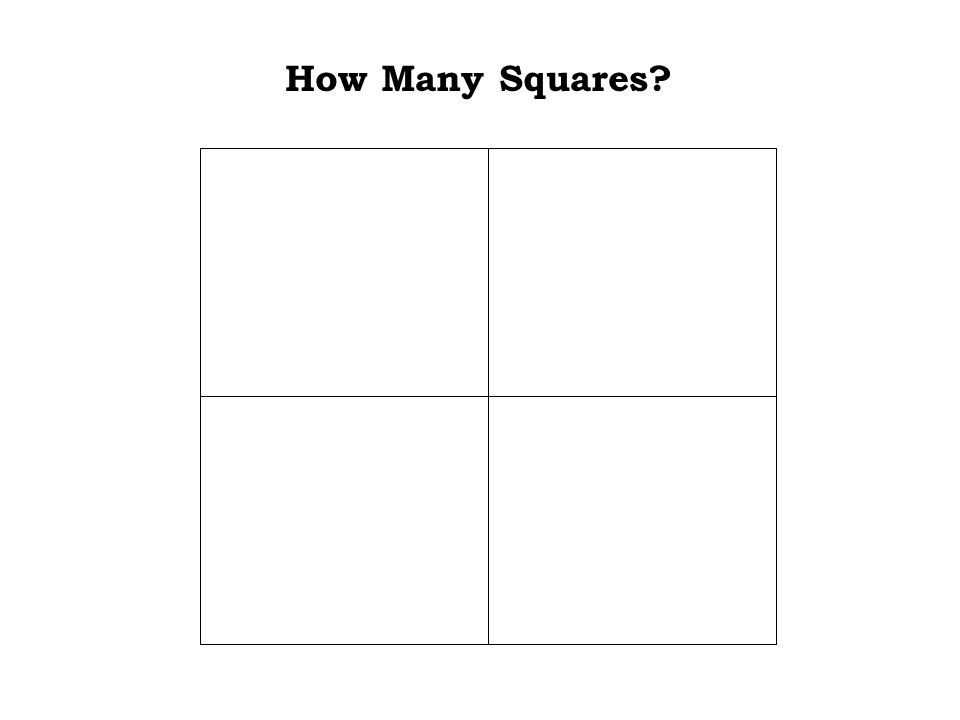 It was easy. The answer is: 1 How Many Squares