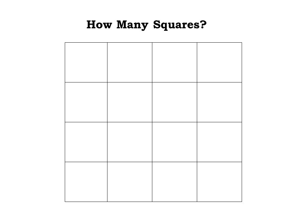 It was difficult Check it out one more time to be sure.... How Many Squares