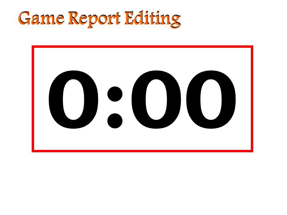 Game Report Editing Étoiles de l'Est