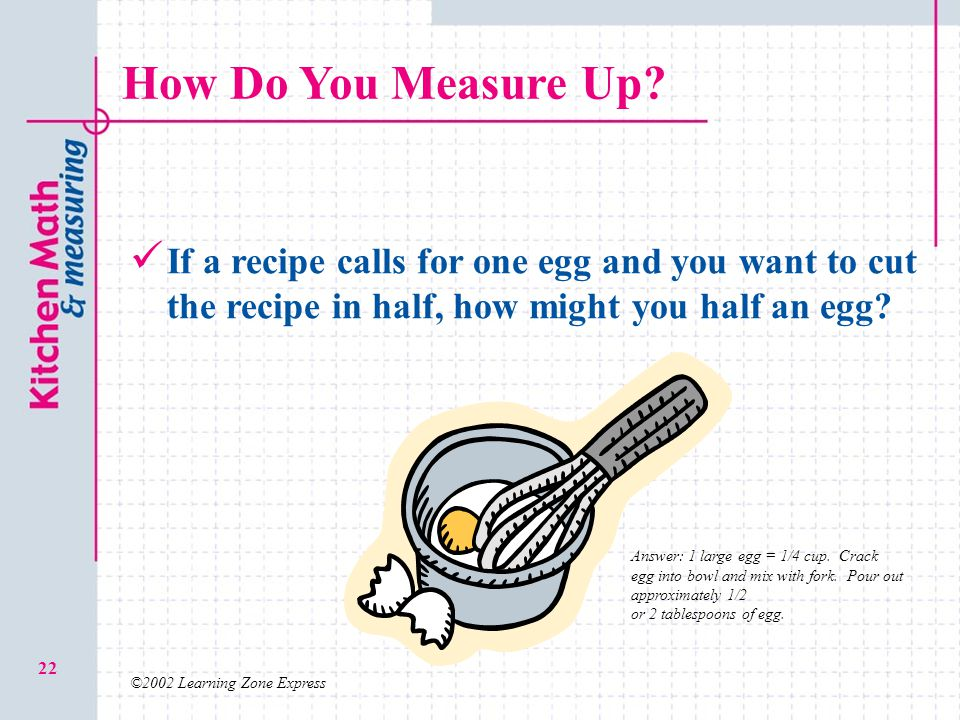 ©2002 Learning Zone Express 22 How Do You Measure Up.
