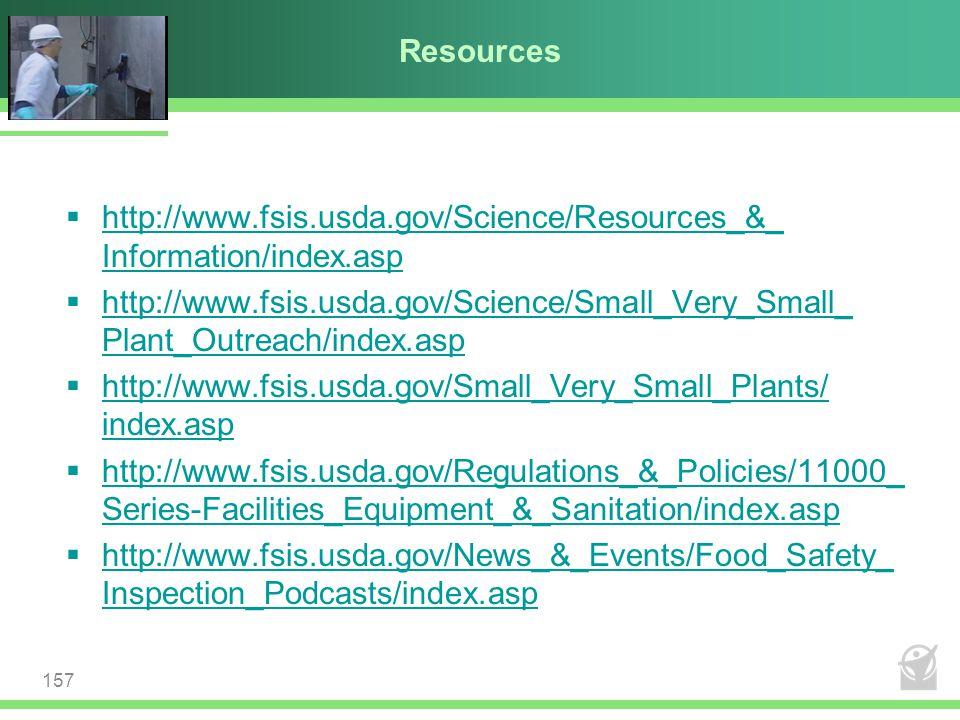 Resources  http://www.fsis.usda.gov/Science/Resources_&_ Information/index.asp http://www.fsis.usda.gov/Science/Resources_&_ Information/index.asp 