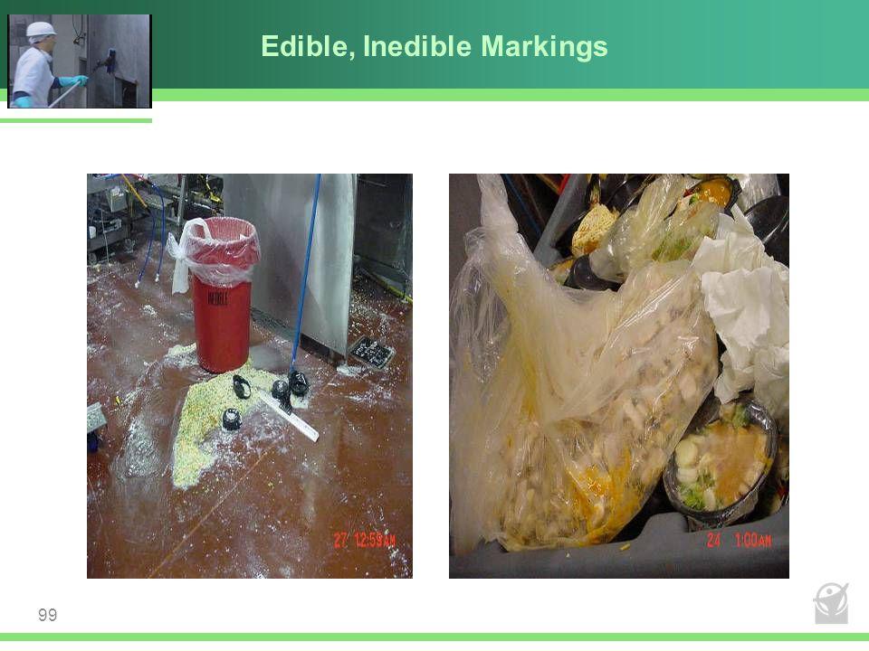 Edible, Inedible Markings 99