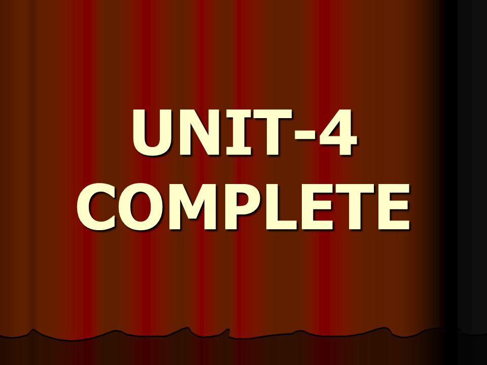 UNIT-4 COMPLETE