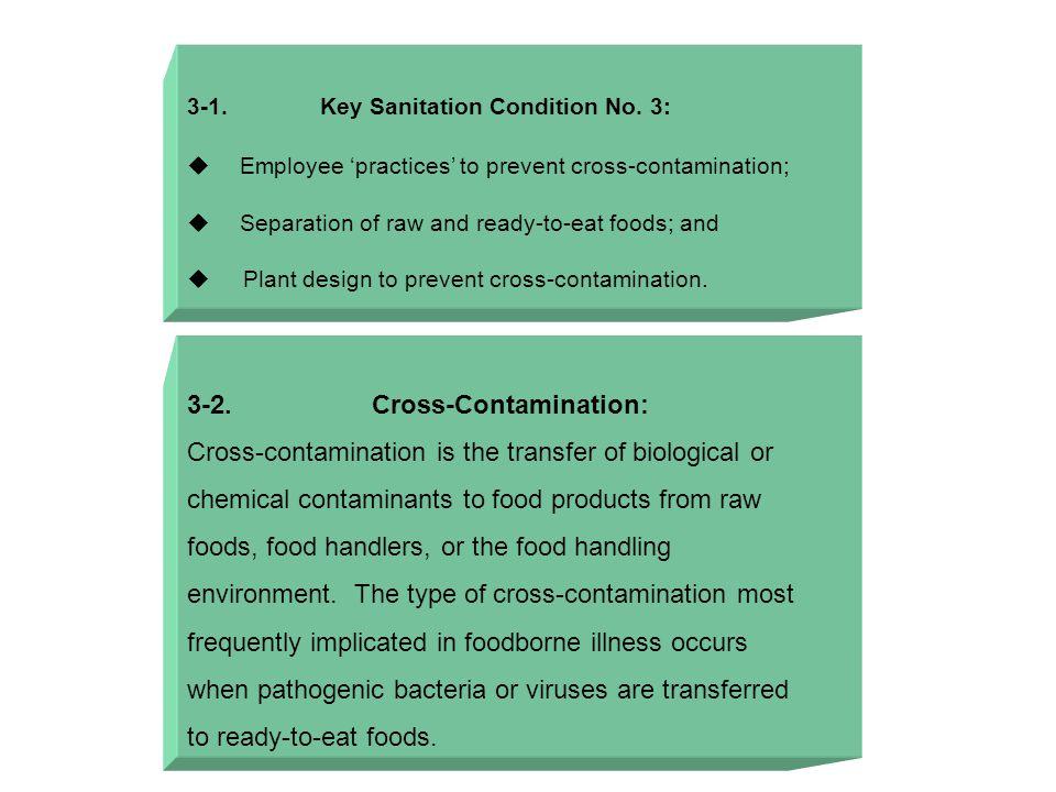 3-1. Key Sanitation Condition No.