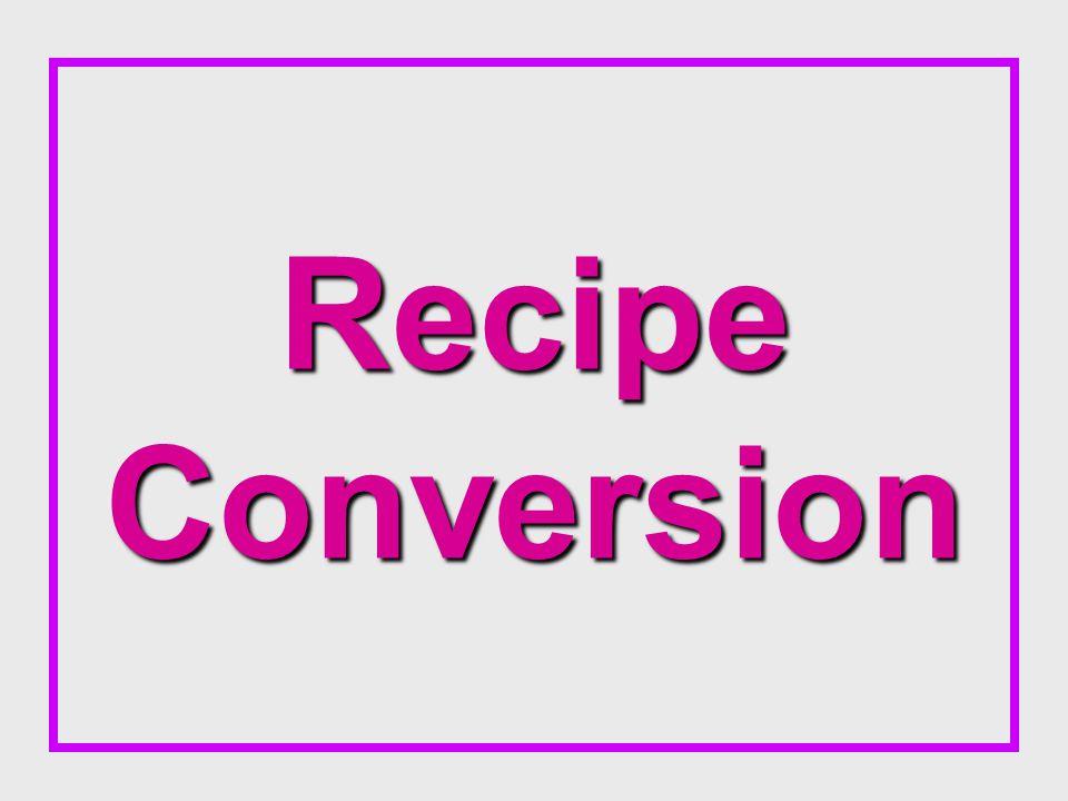 Recipe Conversion
