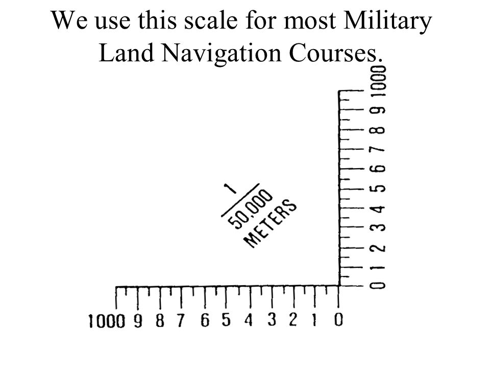 Military Coordinate Scale and Protractor 1/ 50,000  1/25,000  1/100,000 