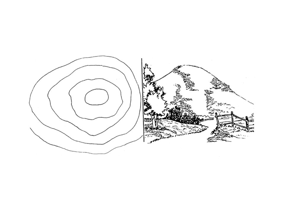 In addition to the contour lines, bench marks and spot elevations are used to indicate points of known elevations on the map.