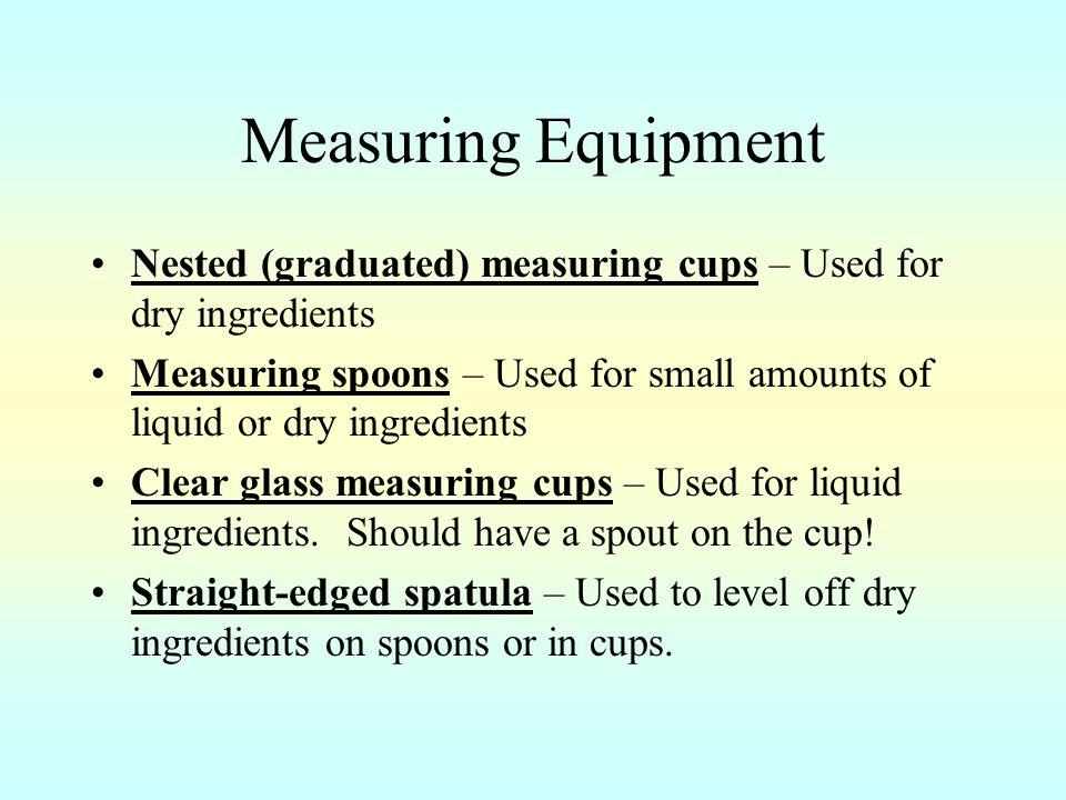 Measuring 101 Proper equipment and techniques, Abbreviations and Equivalents