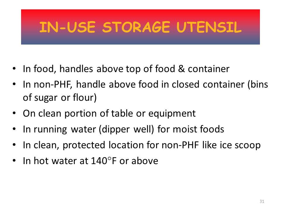 30 In-Use Utensil Storage