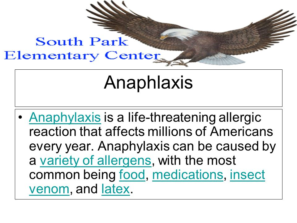 Anaphlaxis Anaphylaxis is a life-threatening allergic reaction that affects millions of Americans every year.