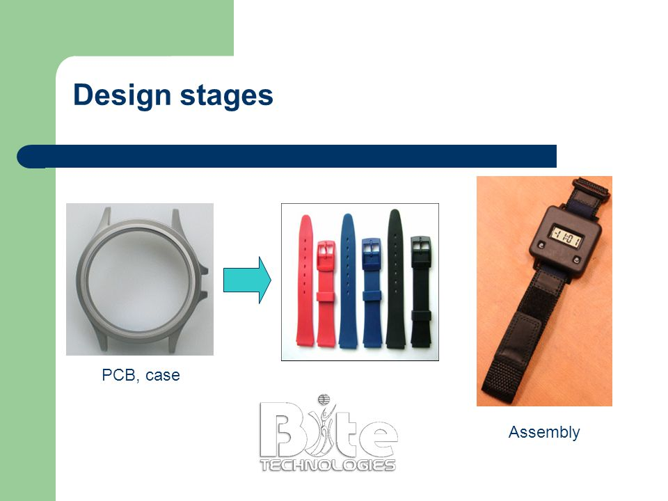 Design stages PCB, case Assembly