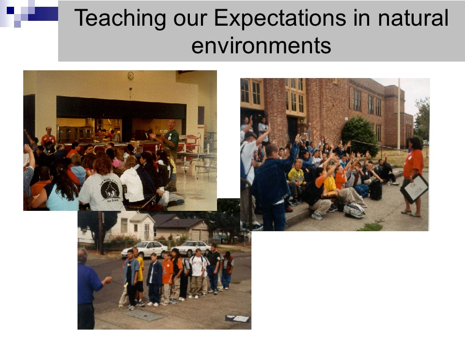 Teaching our Expectations in natural environments