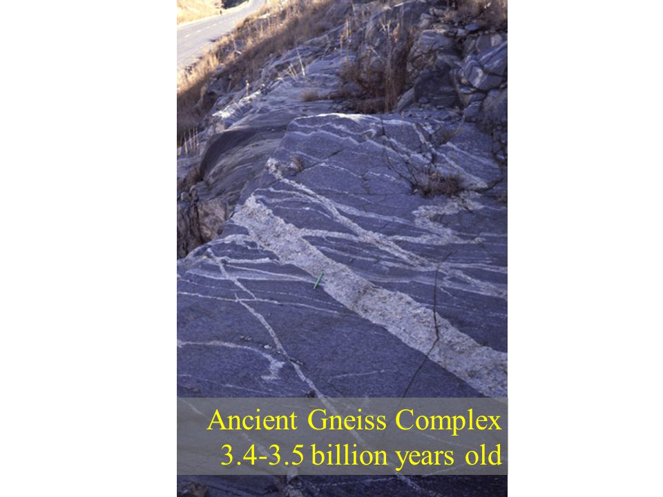 Ancient Gneiss Complex 3.4-3.5 billion years old