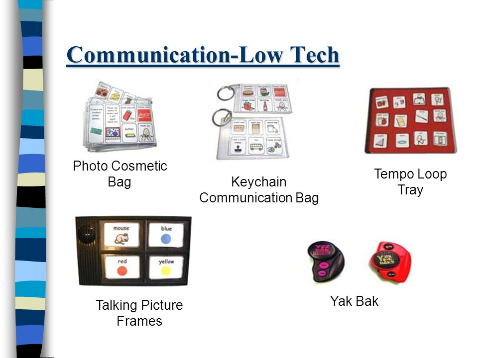 Communication-Low Tech Photo Cosmetic Bag Keychain Communication Bag Tempo Loop Tray Talking Picture Frames Yak Bak