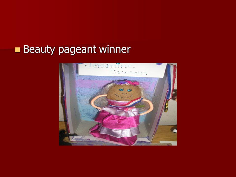 Beauty pageant winner Beauty pageant winner