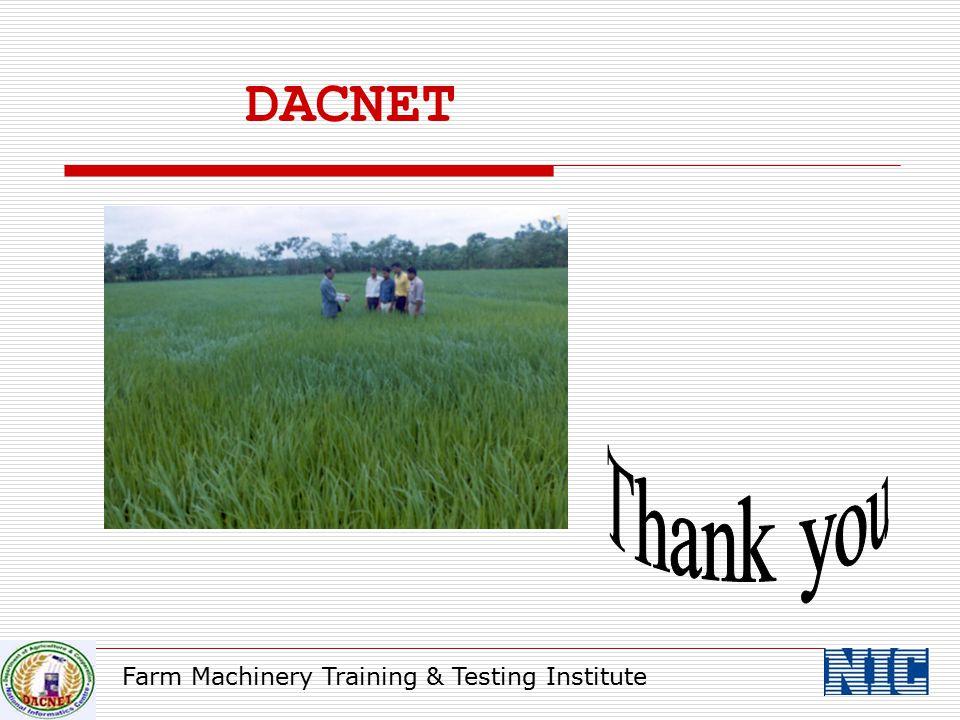 Farm Machinery Training & Testing Institute DACNET
