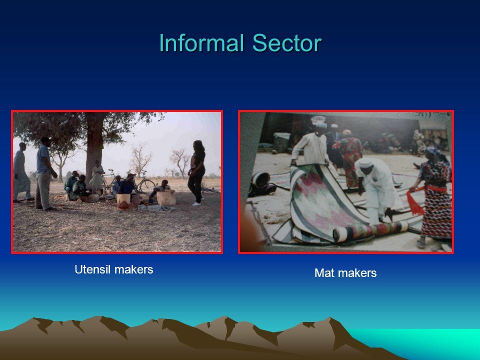 Informal Sector Utensil makers Mat makers