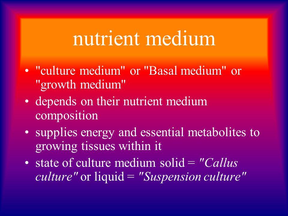 nutrient medium