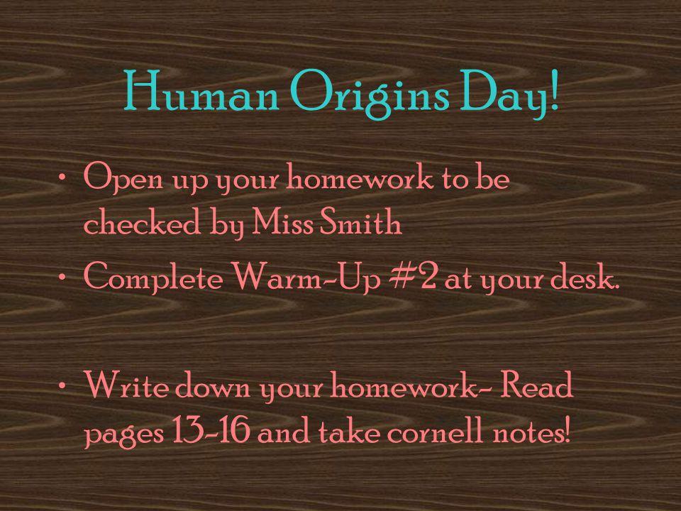 Human Origins Day.
