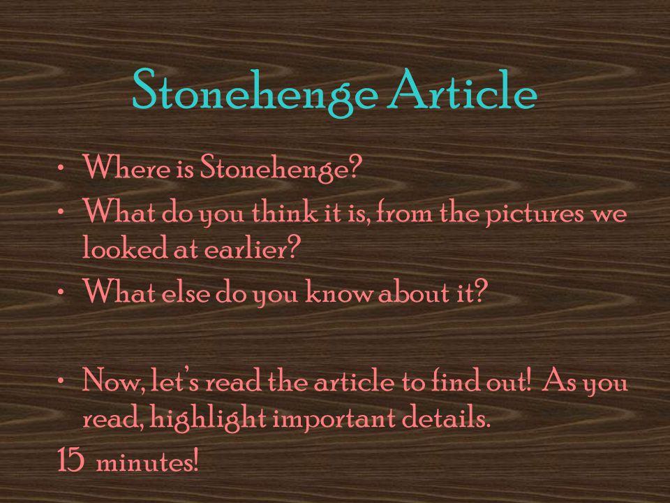 Stonehenge Article Where is Stonehenge.