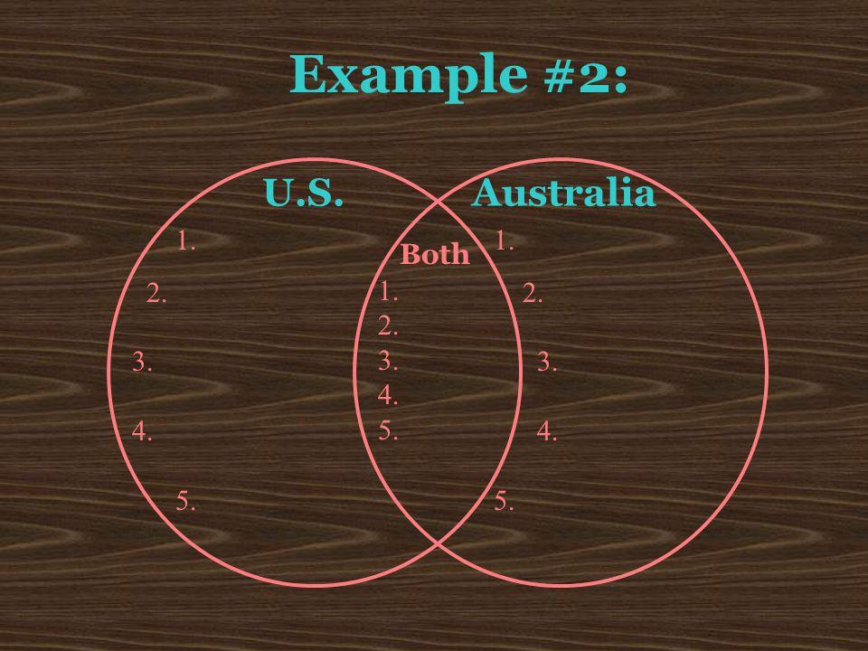 U.S. Australia Both Example #2: 1. 2. 3. 4. 5. 1. 2. 3. 4. 5. 1. 2. 3. 4. 5.