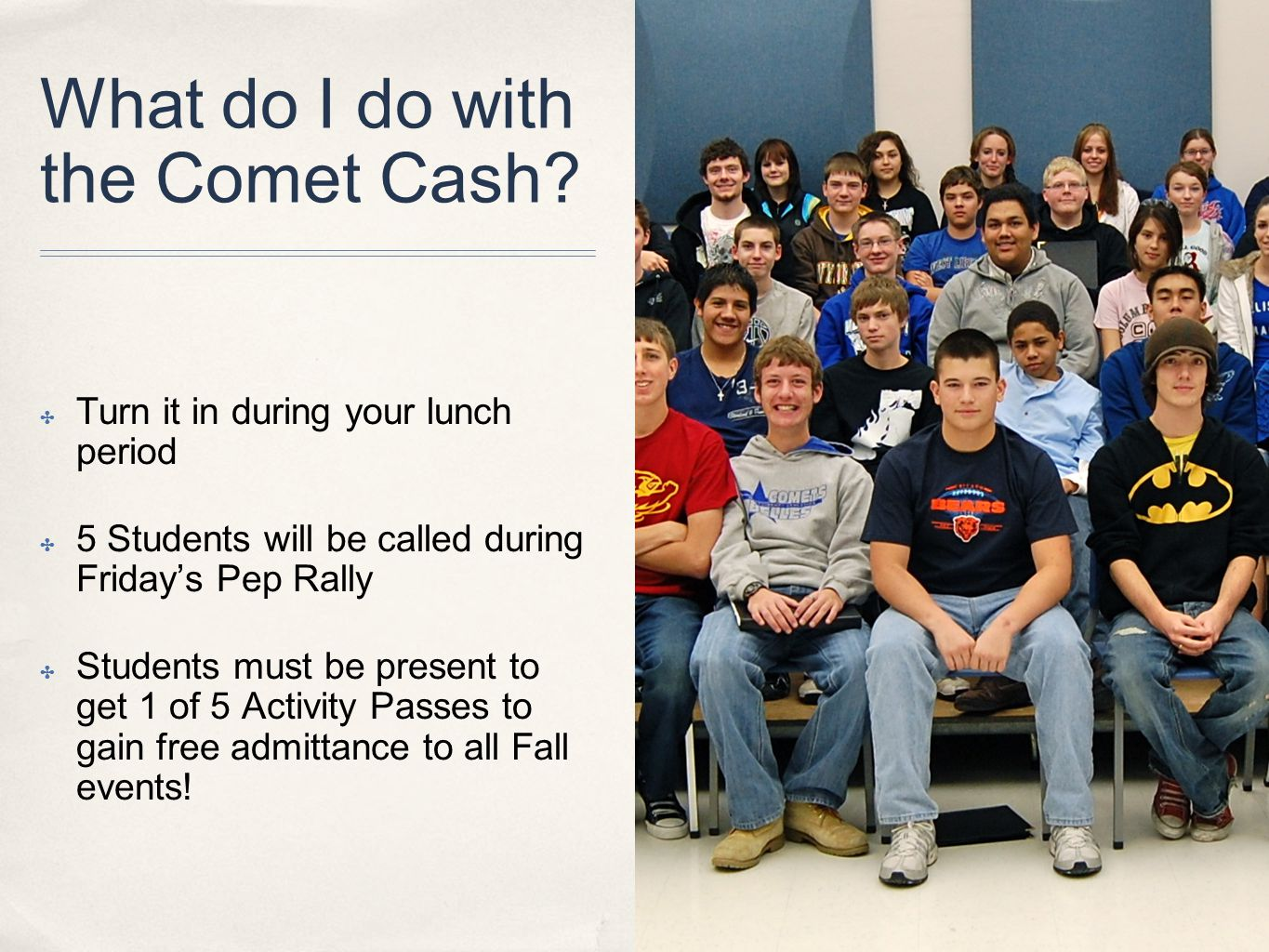 What do I do with the Comet Cash.