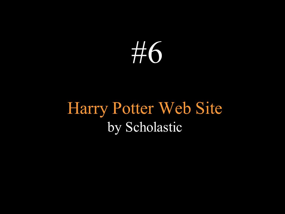 Harry Potter Web Site by Scholastic #6