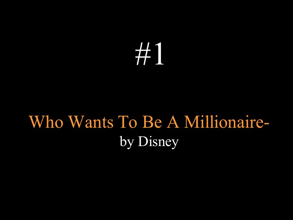 Who Wants To Be A Millionaire- by Disney #1
