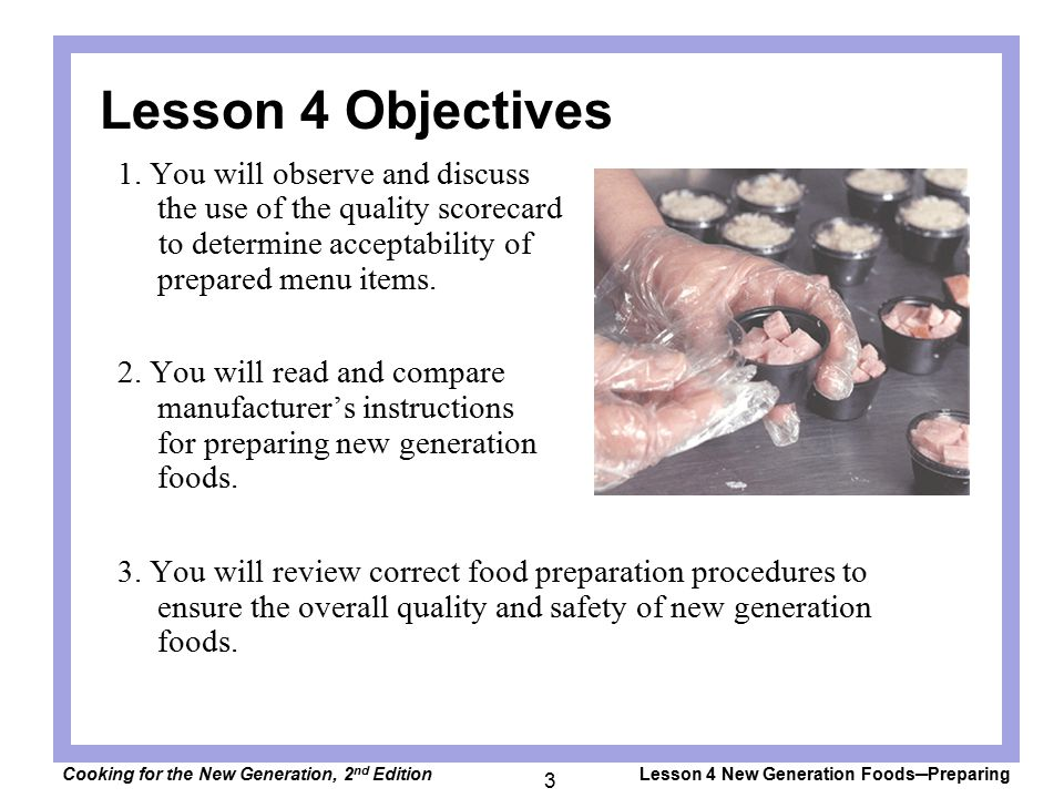 Lesson 4 Objectives 1.