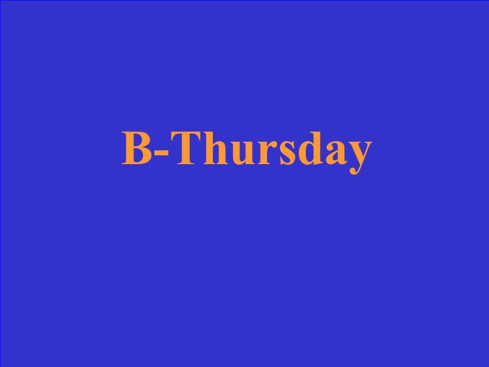 B-Thursday