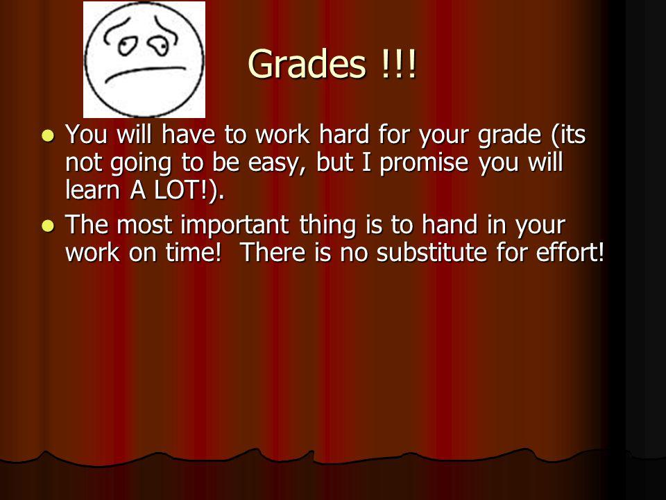 Grades !!.