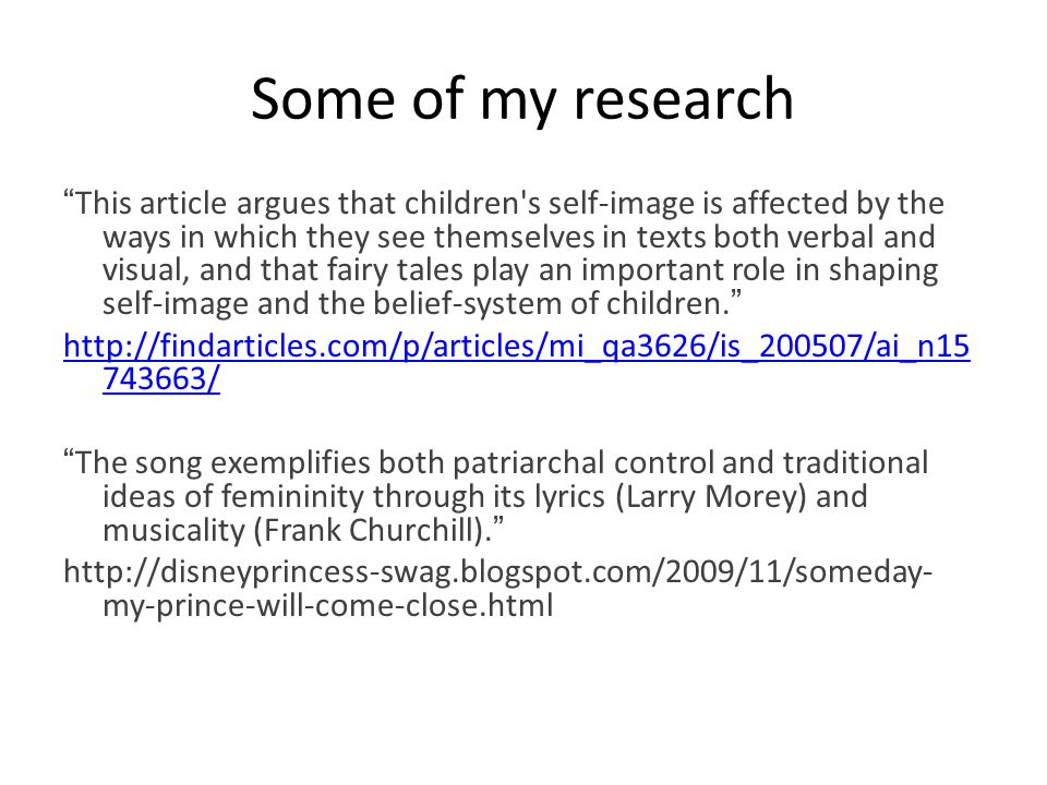 """Some of my research """" This article argues that children's self-image is affected by the ways in which they see themselves in texts both verbal and vis"""