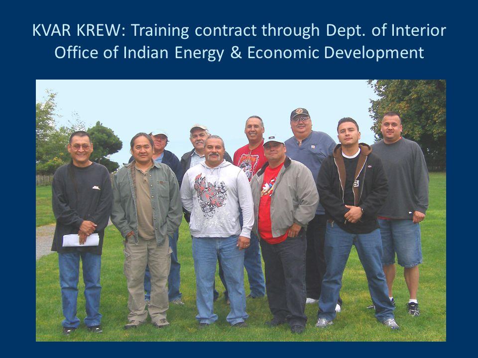 KVAR KREW: Training contract through Dept.