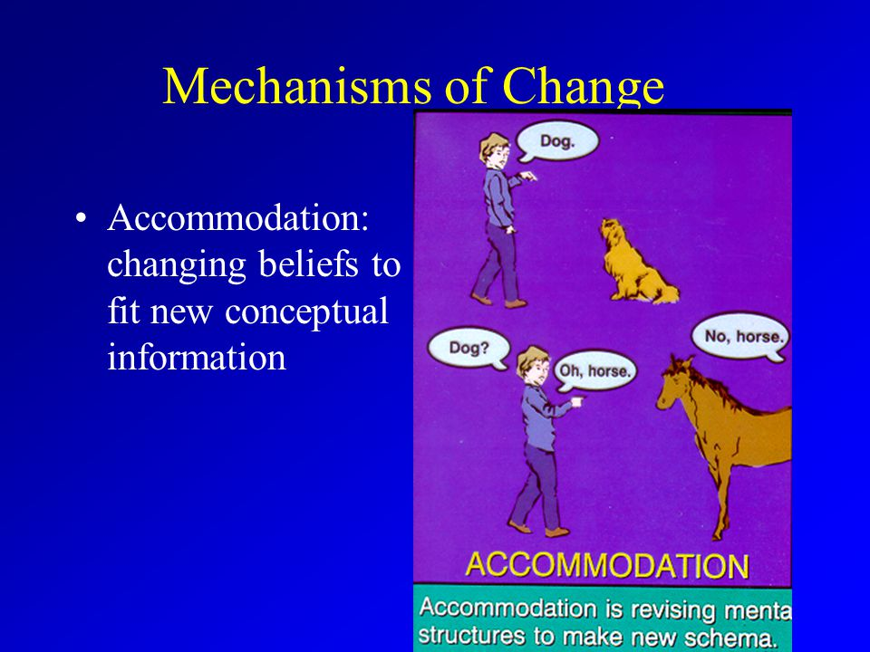 Mechanisms of Change Accommodation: changing beliefs to fit new conceptual information