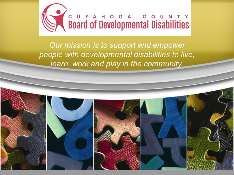 Our mission is to support and empower people with developmental disabilities to live, learn, work and play in the community.