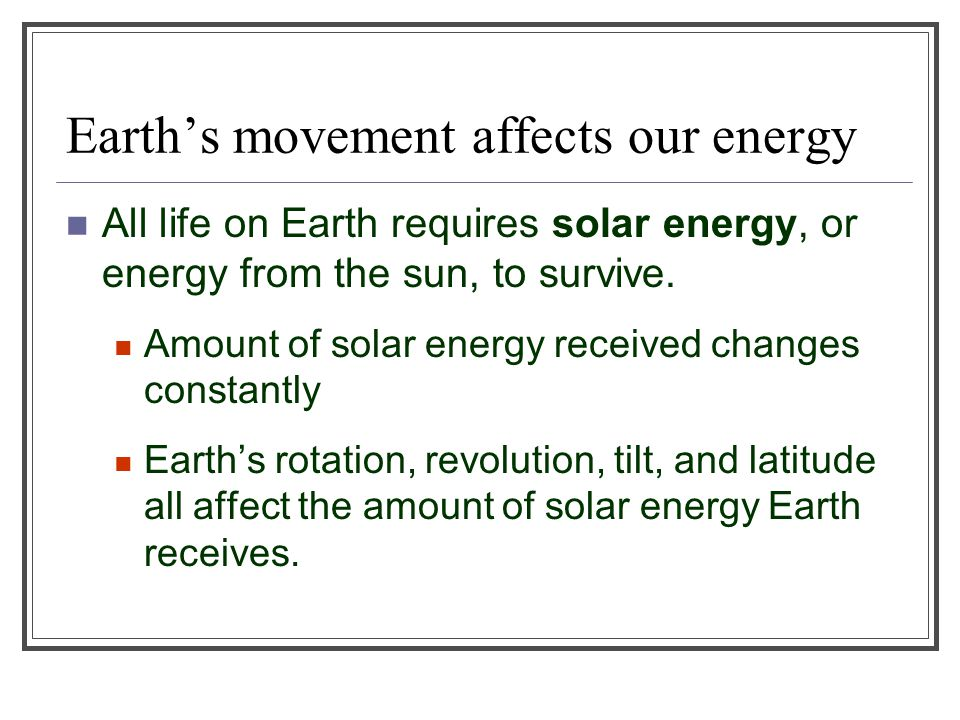 Rotation and Revolution Rotation Earth spins on its axis—an imaginary line that runs through the center of the planet around which it turns.