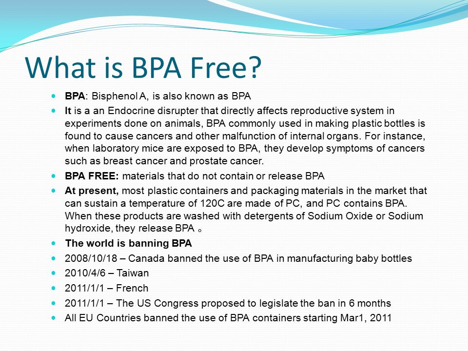 What is BPA Free.