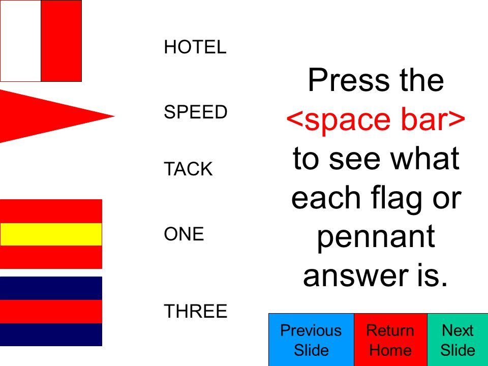 MIKE CORPEN FOUR NINE ZERO Press the to see what each flag or pennant answer is.