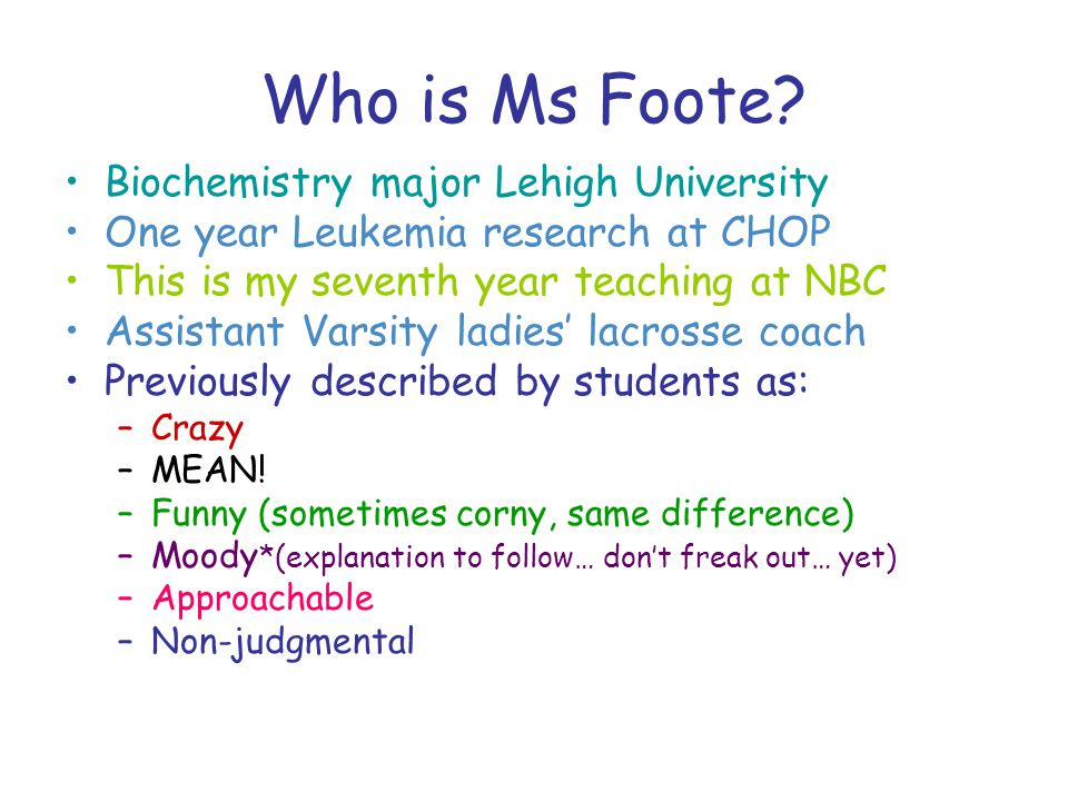 Who is Ms Foote.
