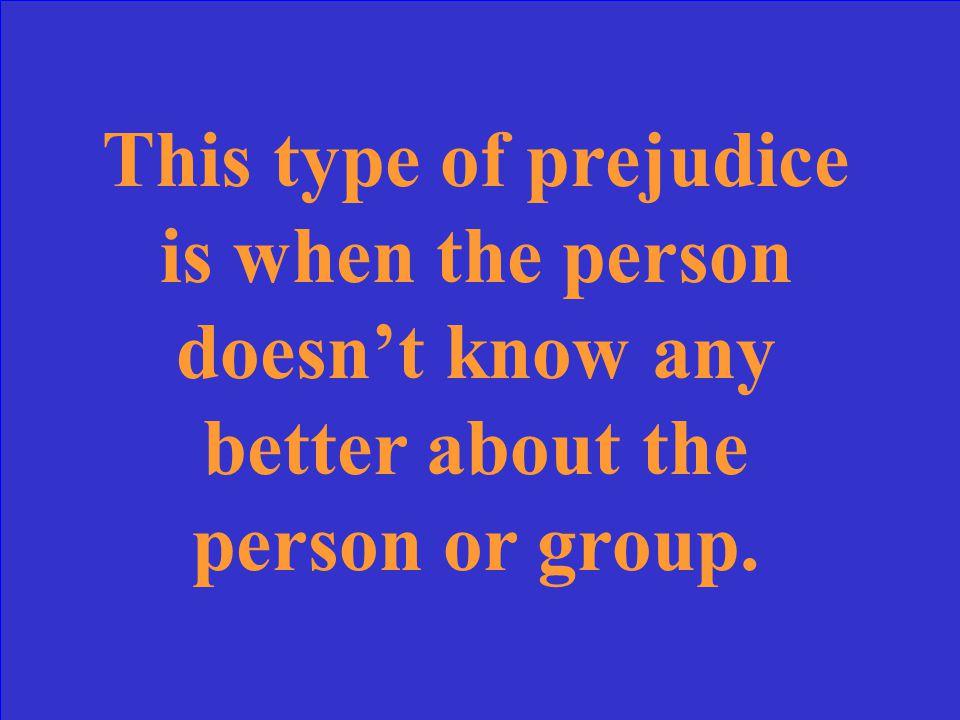 Conforming Prejudice