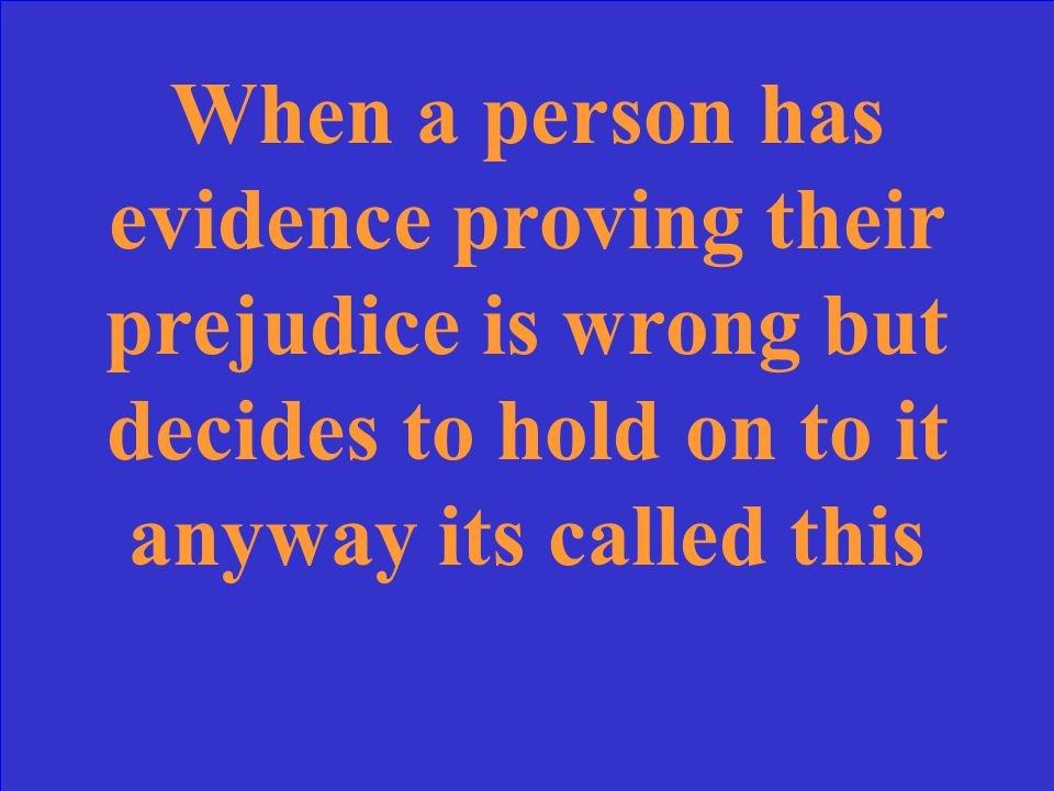 Ignorant Prejudice