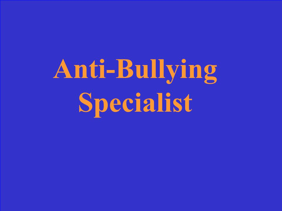 Every case of bullying is investigated by Mrs. Glennon in her role as this type of specialist
